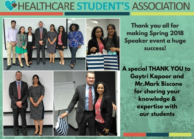 HSA Speaker event success flyer Spring 2018