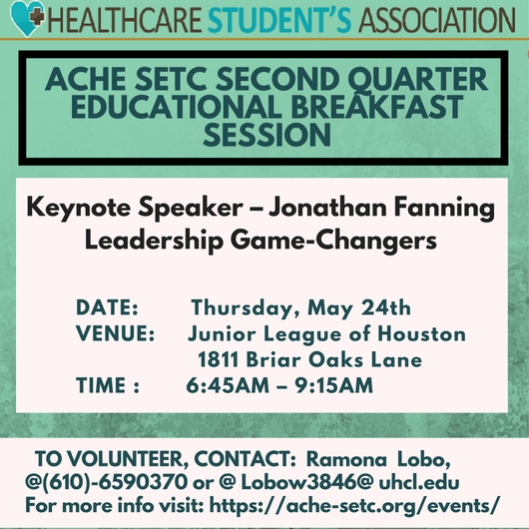 ACHE Breakfast May 2018 Flyer