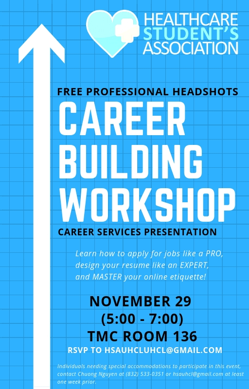 Come Join Us At Our Career Building Workshop Uhcl Healthcare